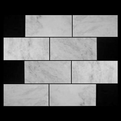Carrara Marble Italian White Bianco Carrera 12x24 Marble Tile Honed