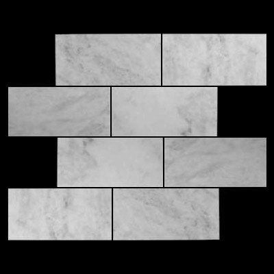 Carrara Marble Italian White Bianco Carrera 12x24 Marble Tile Polished