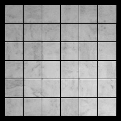 Carrara Marble Italian White Bianco Carrera 2x2 Mosaic Tile Polished