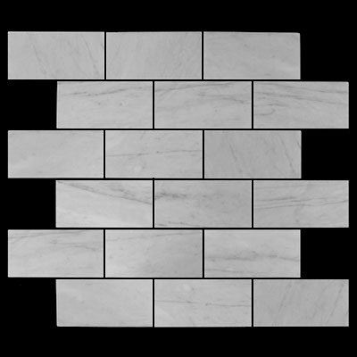 Carrara Marble Italian White Bianco Carrera 2x4 Mosaic Tile Honed