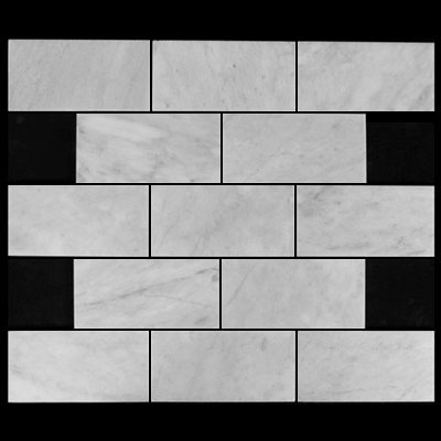 Carrara Marble Italian White Bianco Carrera 3x6 Marble Subway Tile Polished