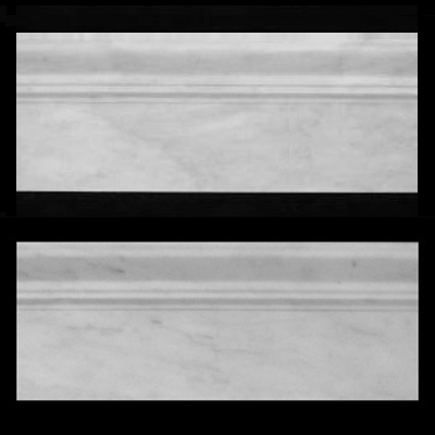 "Carrara Marble Italian White Bianco Carrera 3/4"" Baseboard Molding Honed"