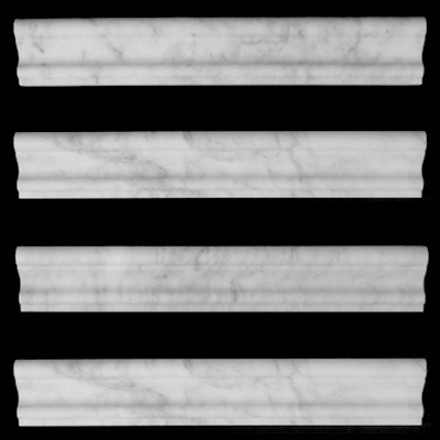 Carrara Marble Italian White Bianco Carrera Crown Molding Honed
