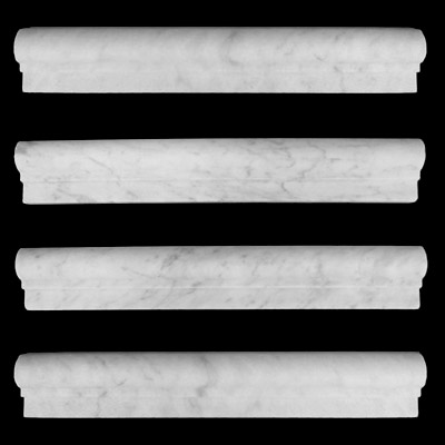 Carrara Marble Italian White Bianco Carrera Ogee 1 Chairrail Molding Honed
