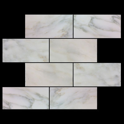 Calacatta Gold Italian Marble 12x24 Tile Honed
