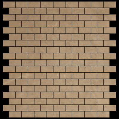 Crema Marfil Marble Mini Brick Mosaic Tile Polished